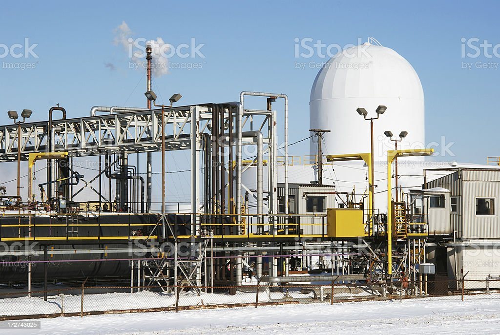 Refinery equipments royalty-free stock photo