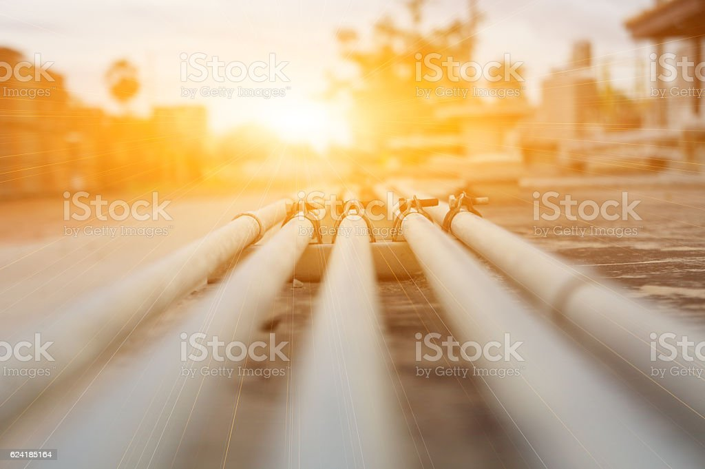 Refinery oil and gas industry stock photo