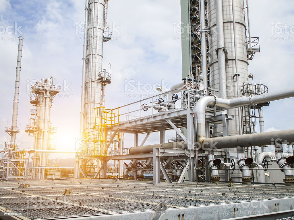 Refinery oil and gas industry – Foto