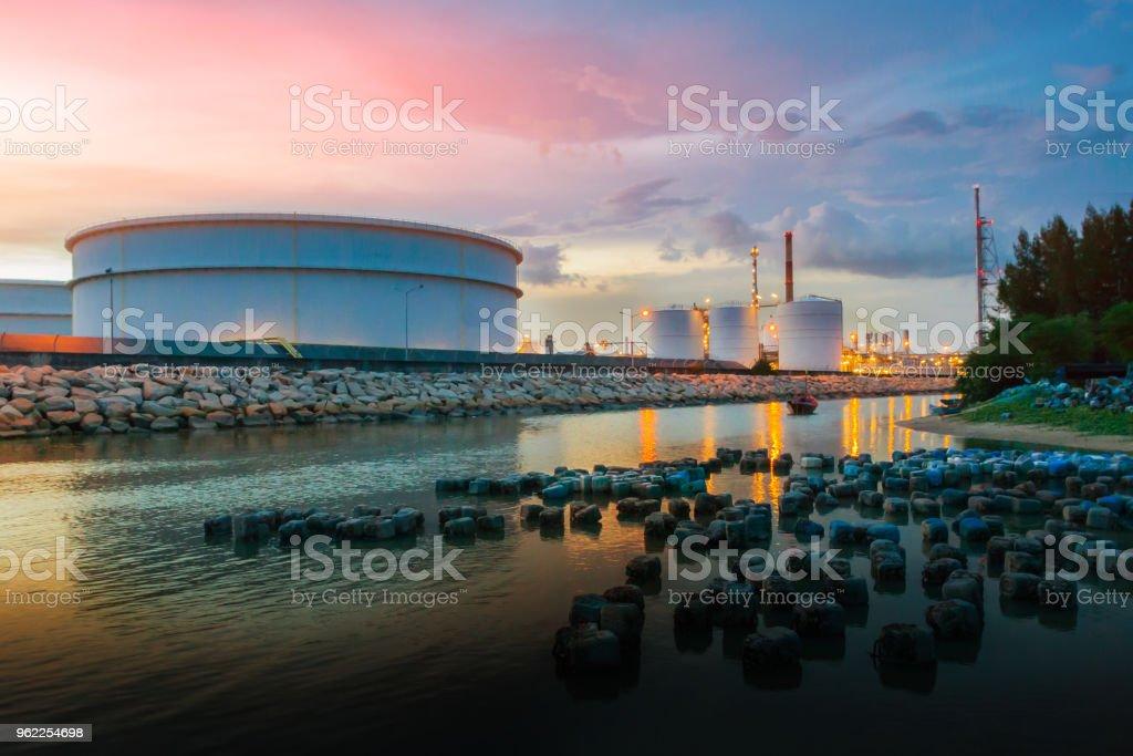 Raffinerie, Öl und Gas Industrie – Foto