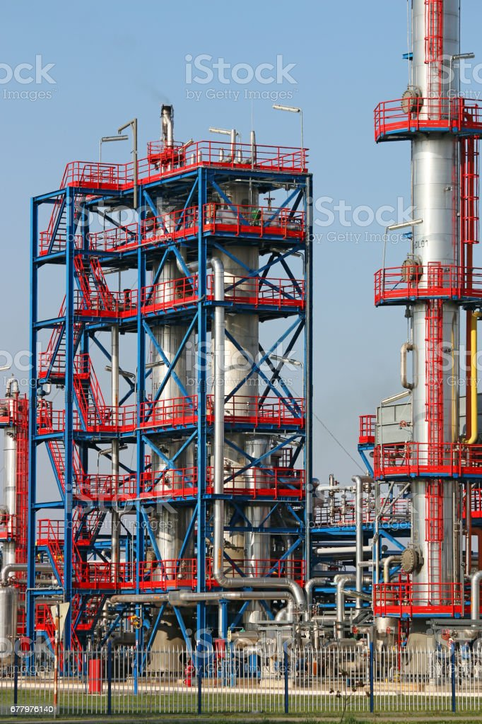 refinery petrochemical plant oil industry stock photo
