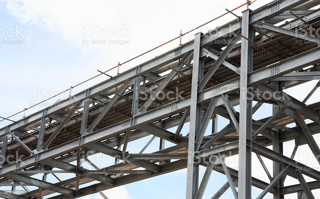 Refinery pipe line stock photo
