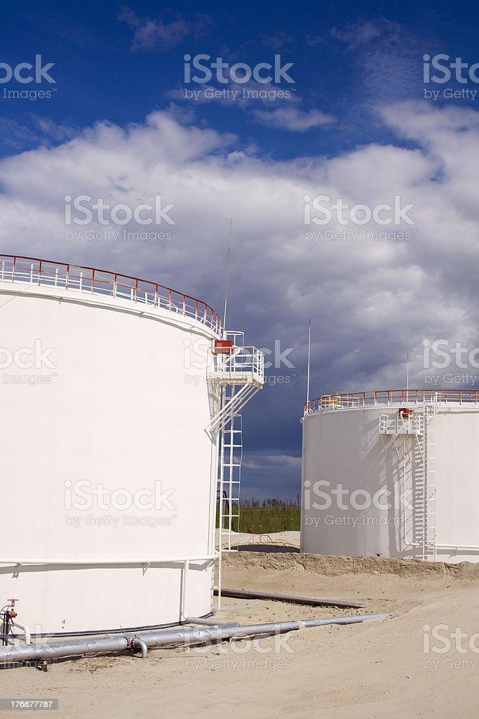 Refinery plant royalty-free stock photo