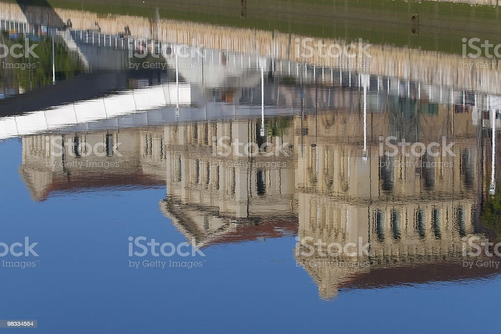 Reflect in the river of Bilbao royalty-free stock photo