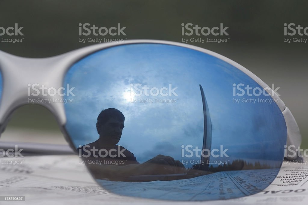 Reflect on work royalty-free stock photo