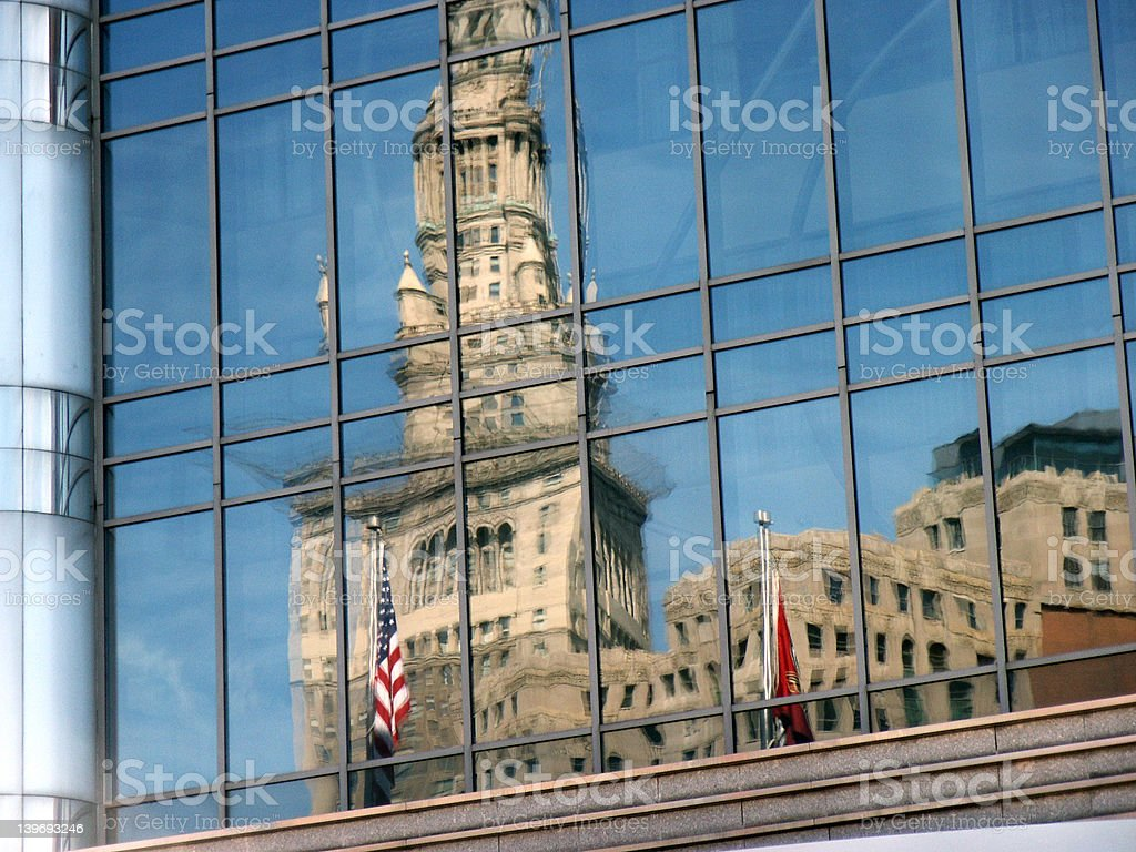 Reflected building stock photo