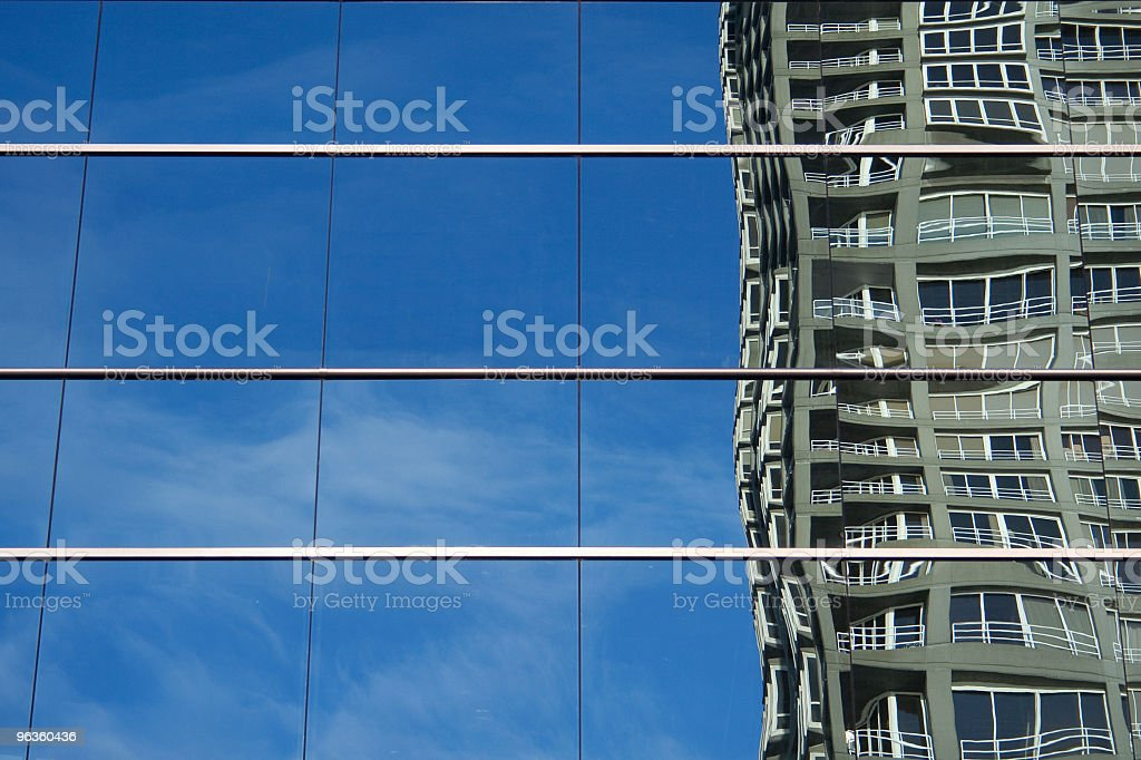 reflected building royalty-free stock photo