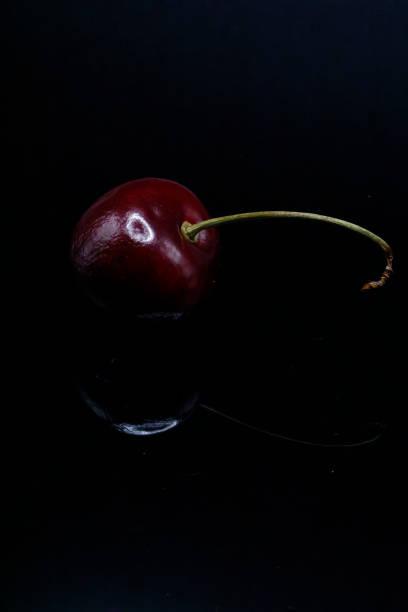 Reflected Cherry stock photo