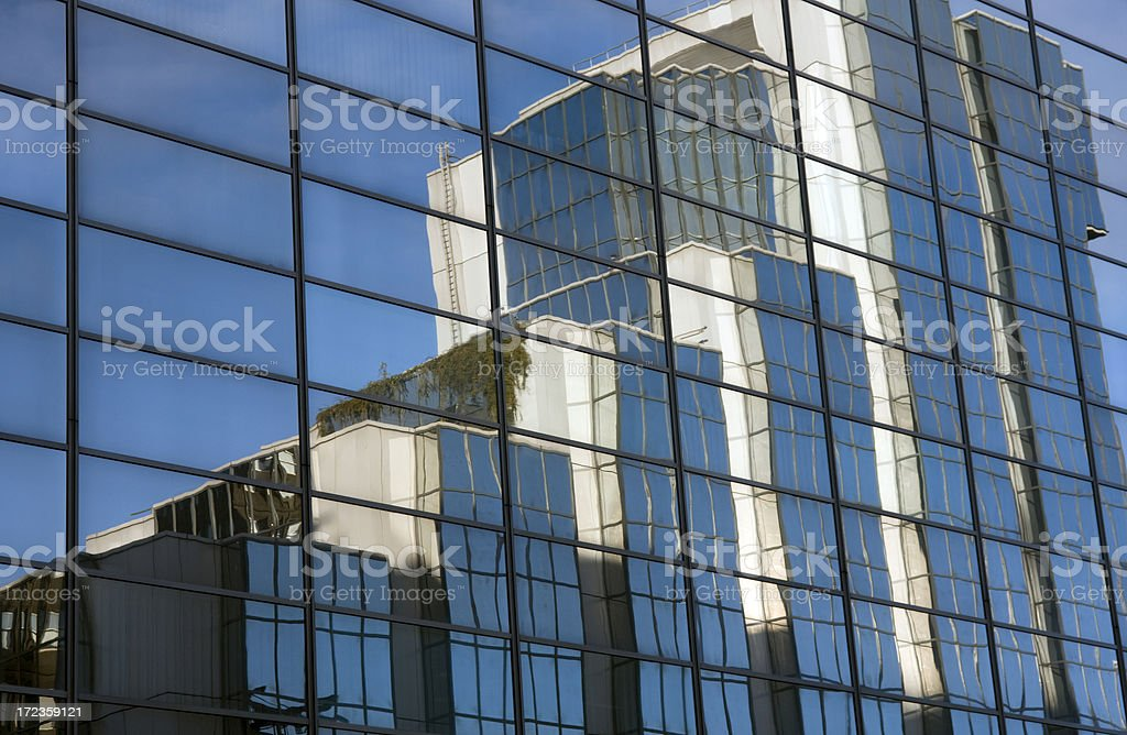 Reflected Offices royalty-free stock photo