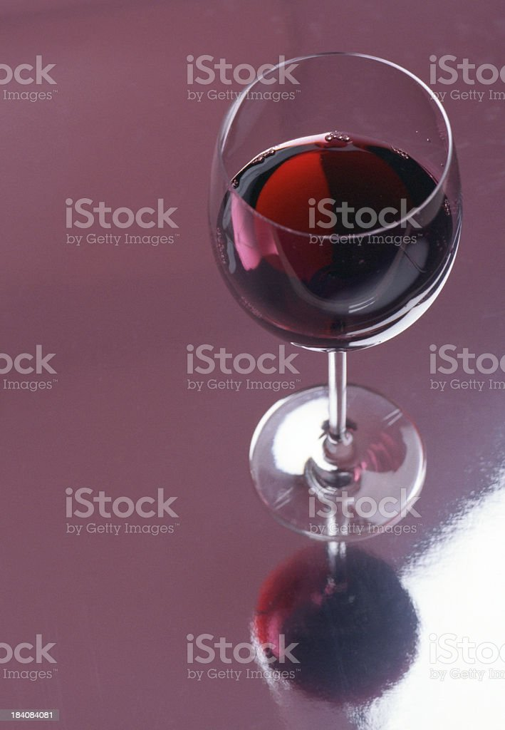Reflected Red Wine royalty-free stock photo