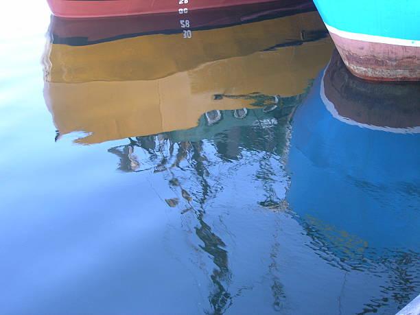 reflected ship