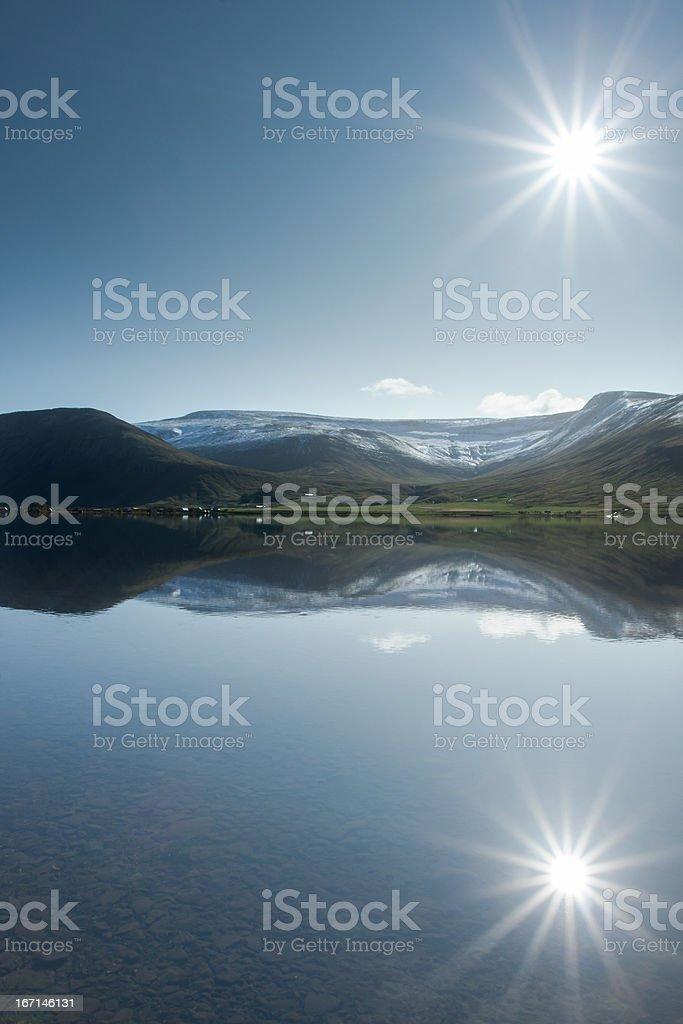 Reflected Sun royalty-free stock photo