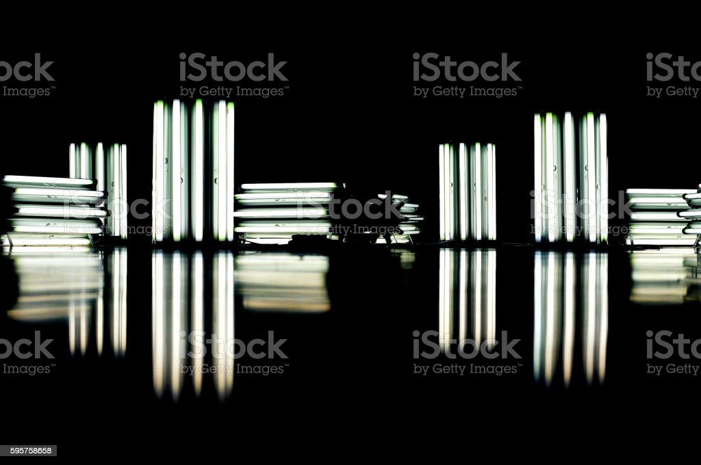 Reflected Tubes stock photo