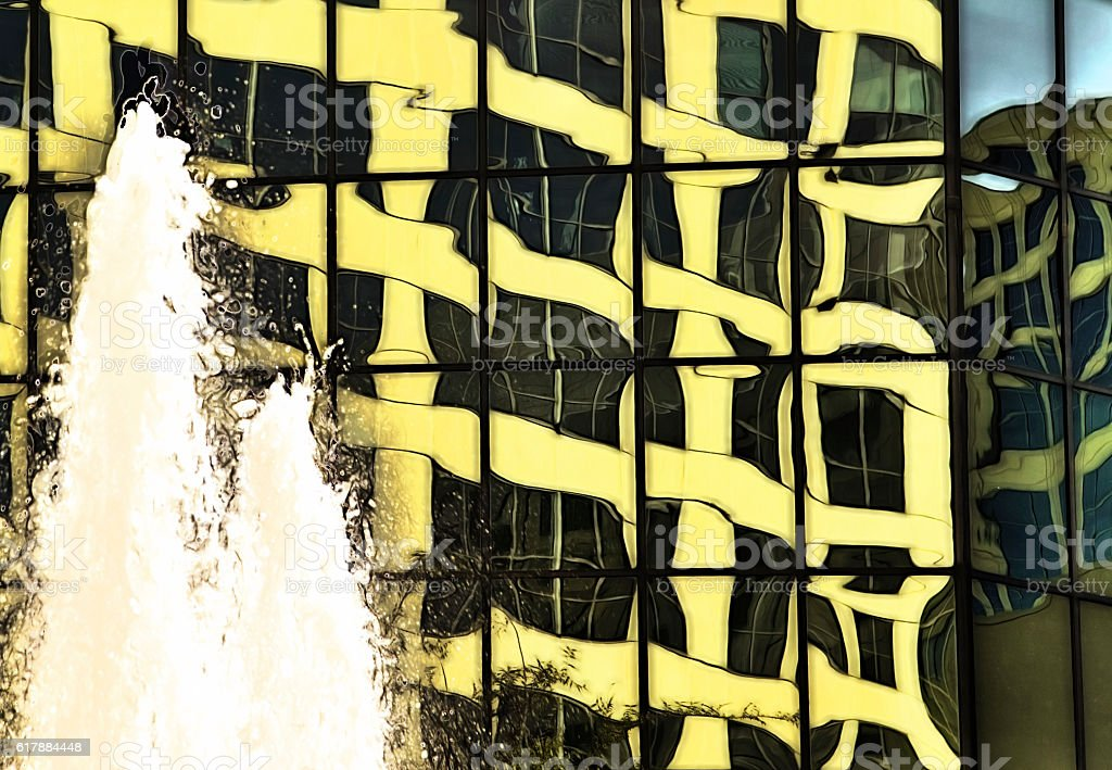 reflected yellow stock photo