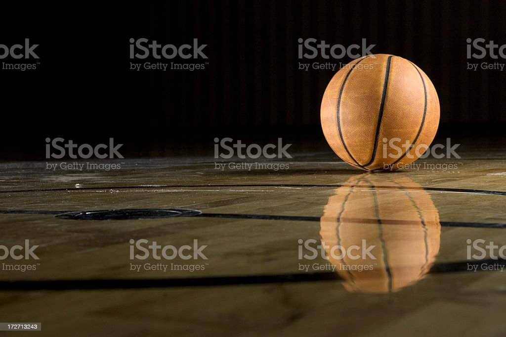 Reflecting Basketball royalty-free stock photo