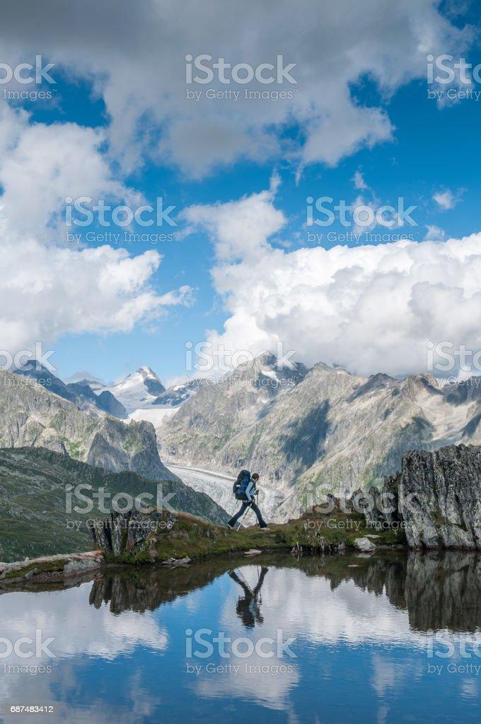 Reflecting Hike stock photo
