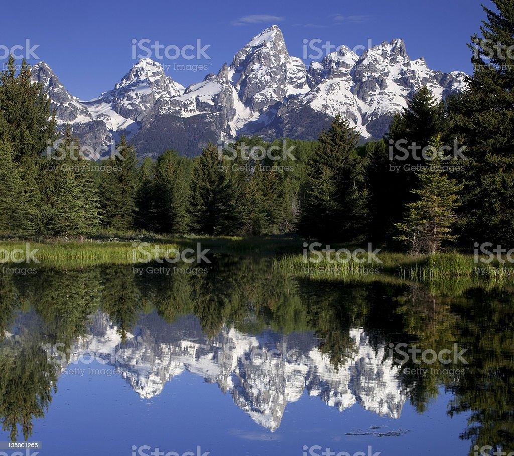 Reflecting Mountains royalty-free stock photo