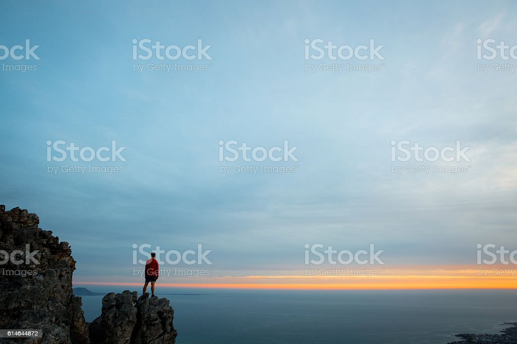 Reflecting on another amazing day in our World! stock photo