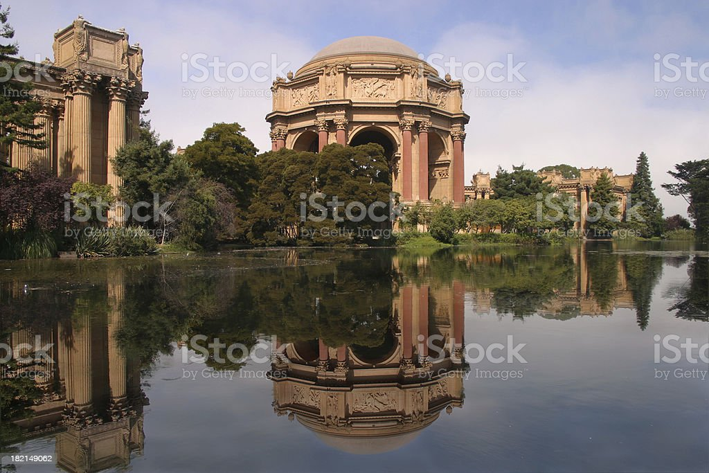 Reflecting on the Palace of Fine Arts royalty-free stock photo