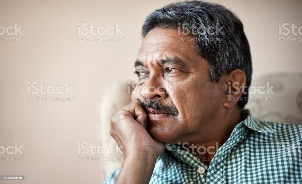 Reflecting on the past years stock photo