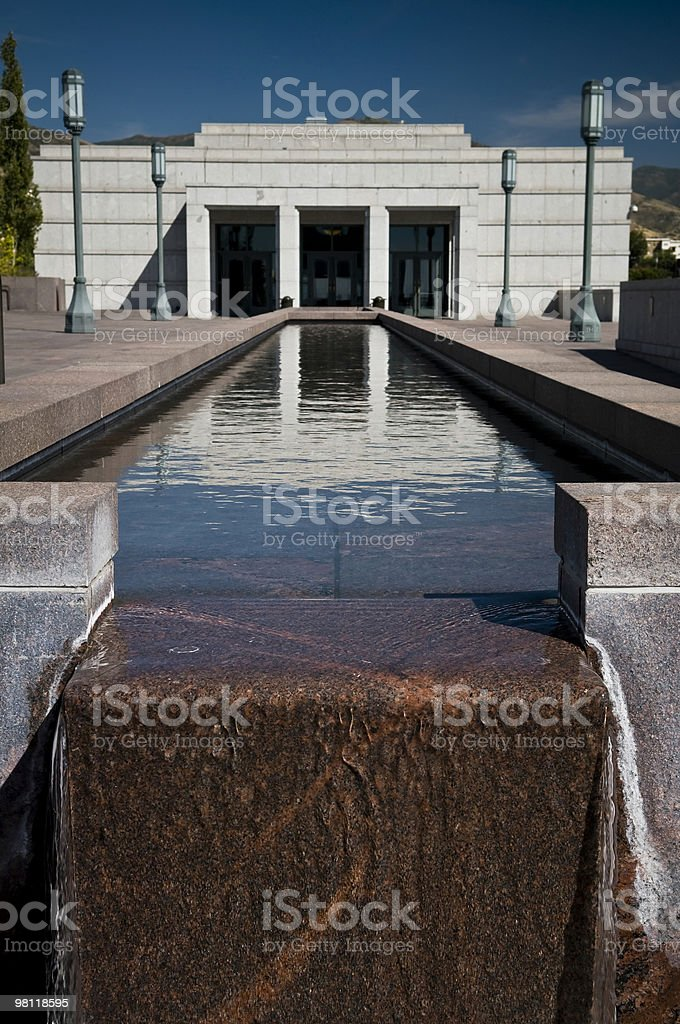 Reflecting Pool @ LDS Conference Center royalty-free stock photo