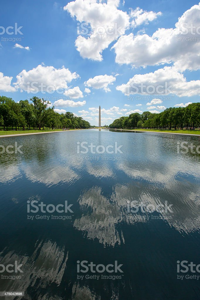 Reflecting Pool & Washington Monument. stock photo