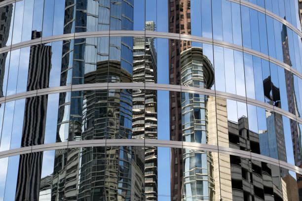 Reflecting Skyscrapers stock photo