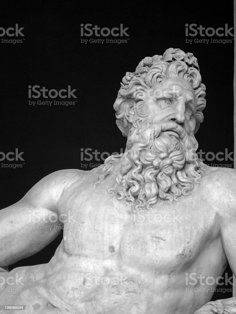 Reflection - An Ancient Roman Statue royalty-free stock photo