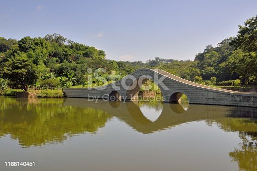 Reflection Arch Bridge in Hsinchu, Taiwan.