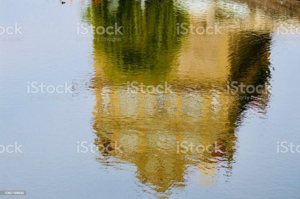 Reflection house stock photo