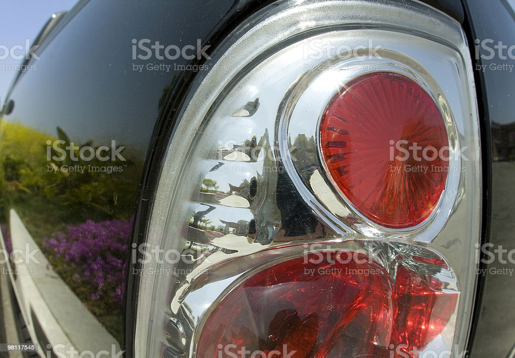 Reflection in Dirty Truck (Fisheye), Automobile, Taillight, Close-up royalty-free stock photo