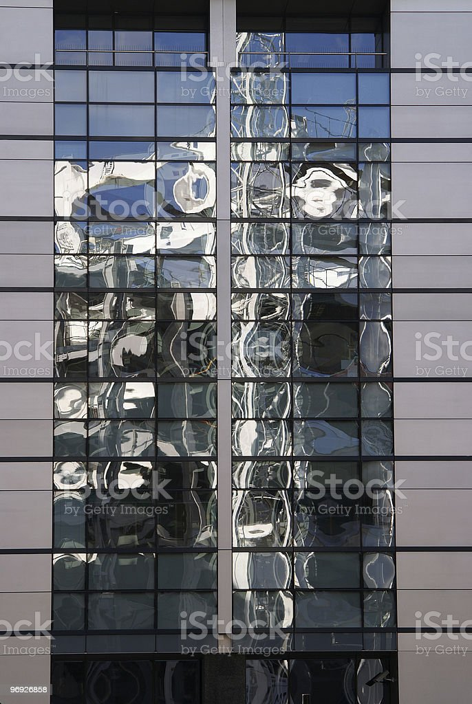 Reflection in facade royalty-free stock photo
