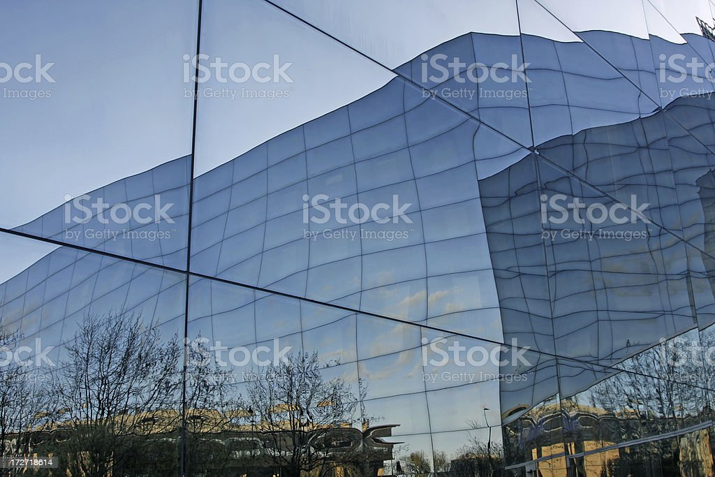Reflection in office building # 8 royalty-free stock photo