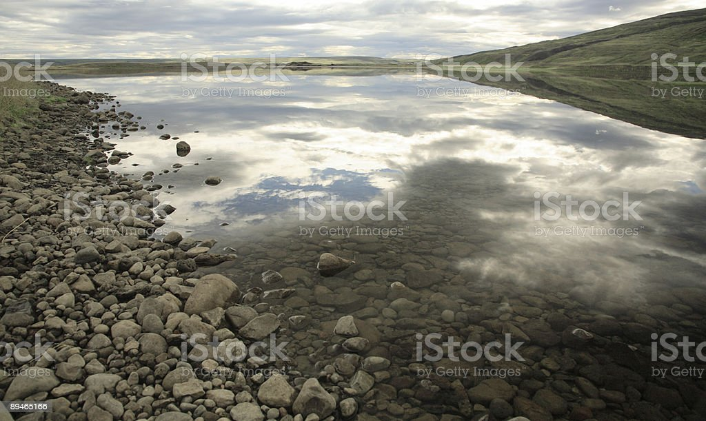 Reflection in the lake royalty-free stock photo