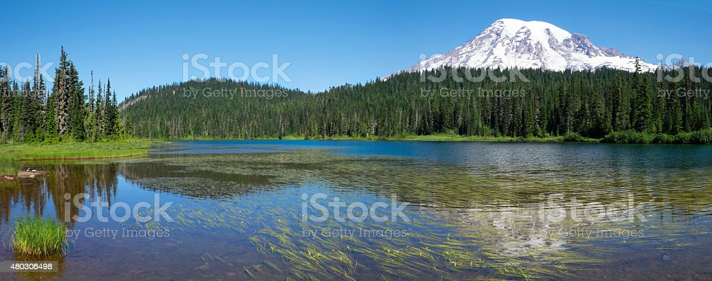 Reflection Lake in the Morning stock photo