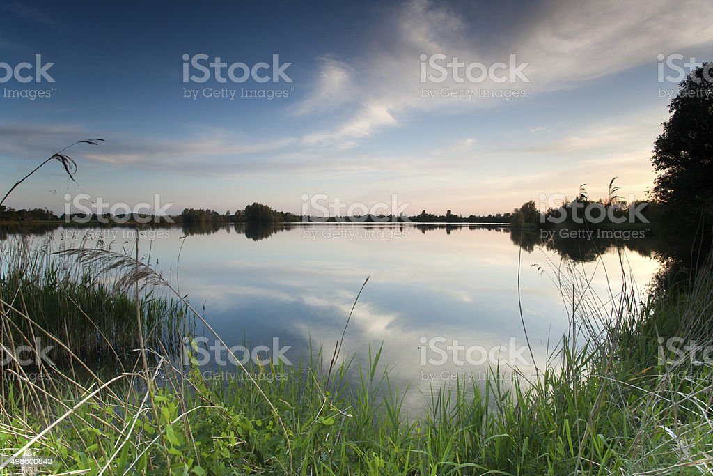 Reflection lake stock photo