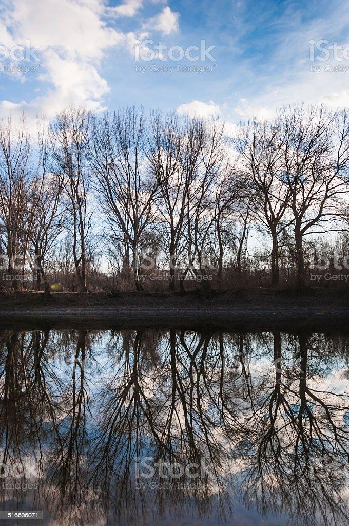 Reflection landscape stock photo