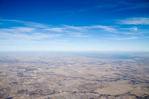 GIS Reflection Map - Aerial View of Texas 1 stock photo