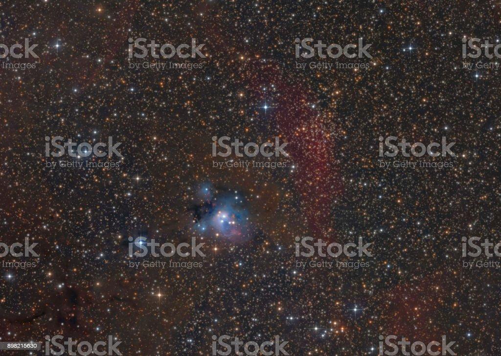 NGC 7129 Reflexion-Nebel im Sternbild Kepheus – Foto