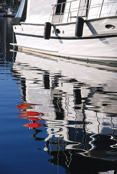 Reflection of a Boat stock photo