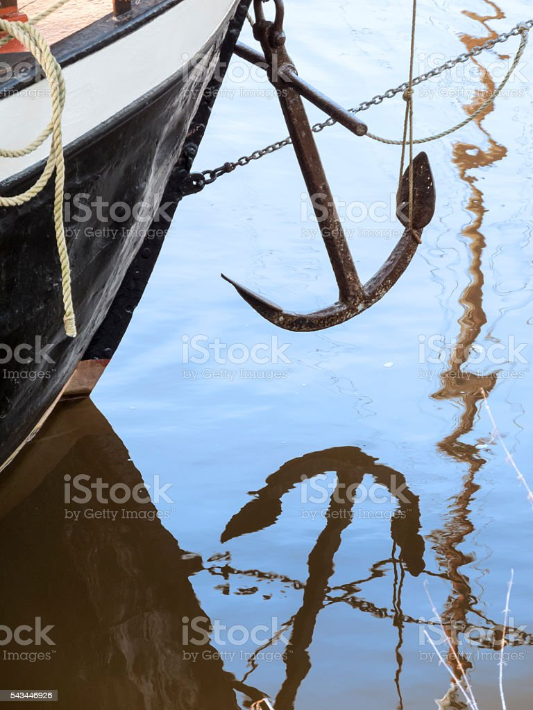 reflection of anchor_2 stock photo