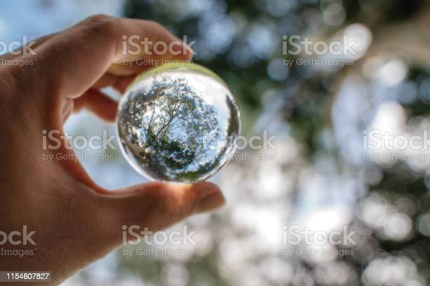 Reflection of blue sky white clouds and trees in a glass ball in picture id1154607827?b=1&k=6&m=1154607827&s=612x612&h=evn4i6f6itvxrzqvcmfxxudrnuxja4uunyy90t cveo=