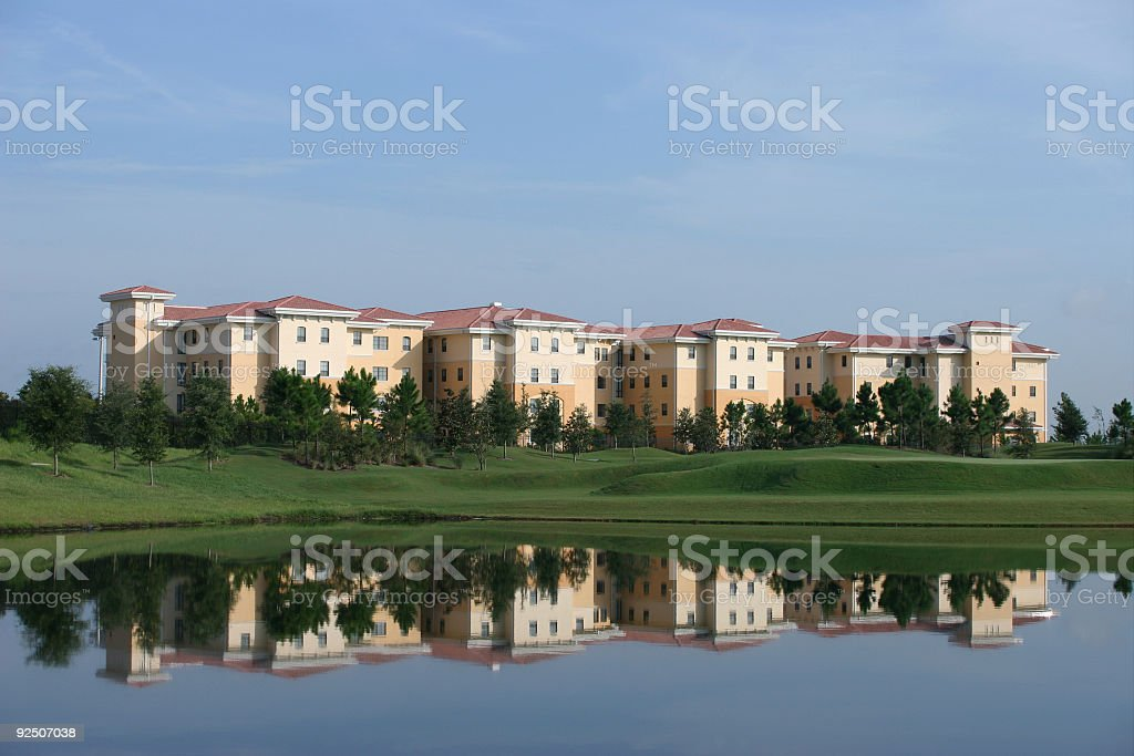 Reflection of Building in Water royalty-free stock photo