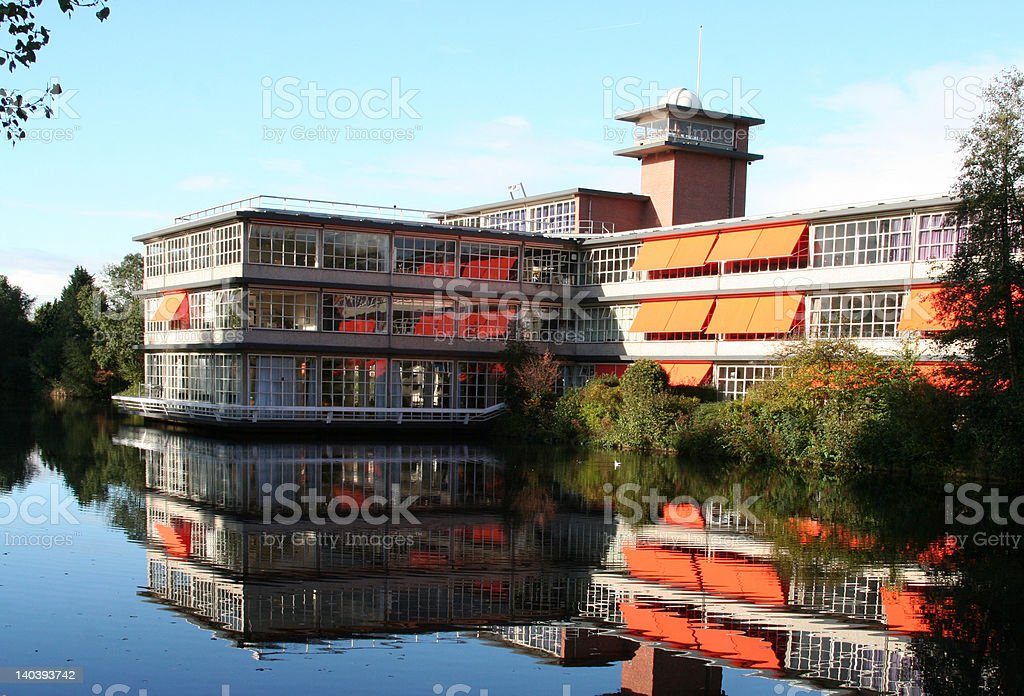 Reflection of building royalty-free stock photo