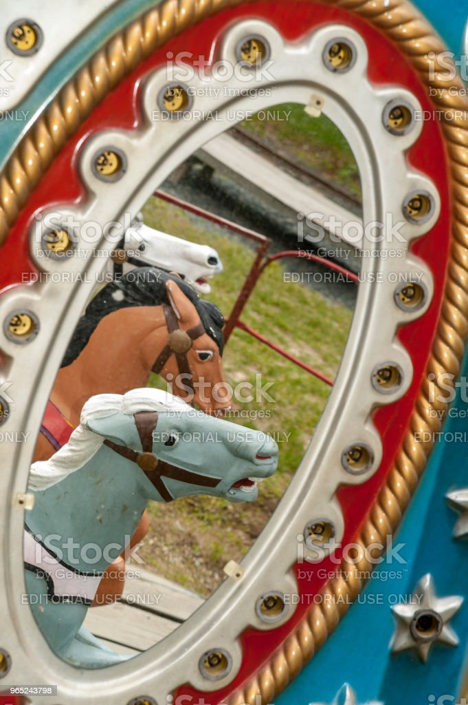 Reflection of carousel horses royalty-free stock photo
