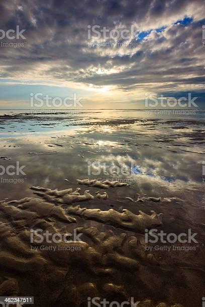 Photo of Reflection of dramatic sky at Nusa Dua beach, Bali, Indonesia