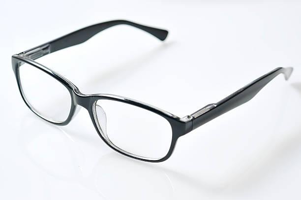 Reflektieren Die Brille der auf weißem Hintergrund – Foto