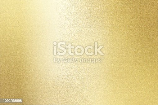 istock Reflection of gold metal steel, texture background 1090258698