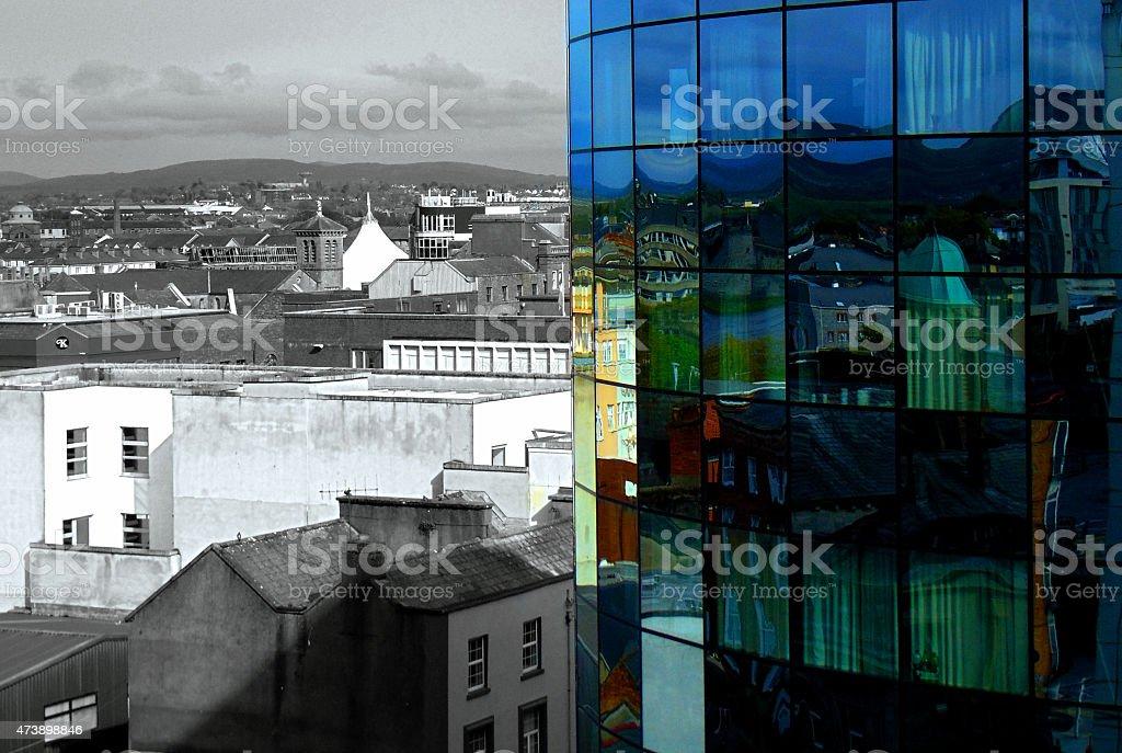 Reflection of Limerick City stock photo