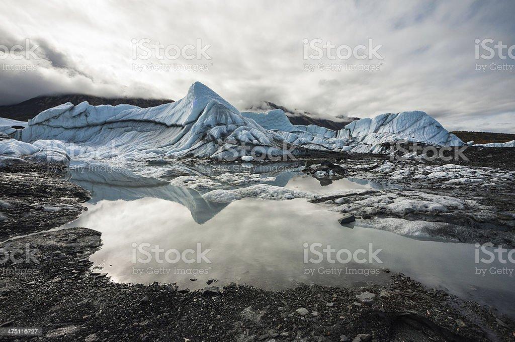 Reflection of Matanuska Glacier, USA stock photo